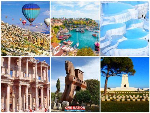 7 days Cappadocia Antalya Pamukkale Ephesus Gallipoli and Troy tour